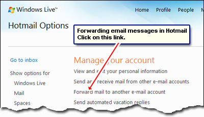 how to receive emails from another email account