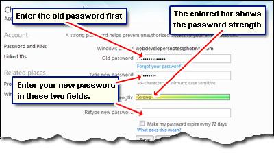 Legen Sie ein neues Passwort für Ihr Hotmail-Konto