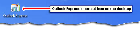 Outlook Express shortcut icon on the desktop