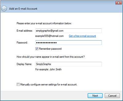 setup gmail in windows live mail