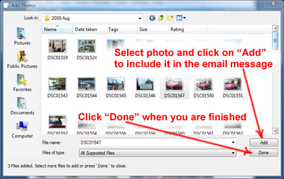 How to attach photos to email messages in Windows Live Mail