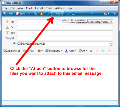 How to attach a word document to an email
