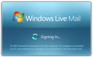 Signing in at the Hotmail account from Windows Live Mail program