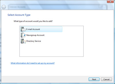 Configuring Gmail account in Windows Mail Vista