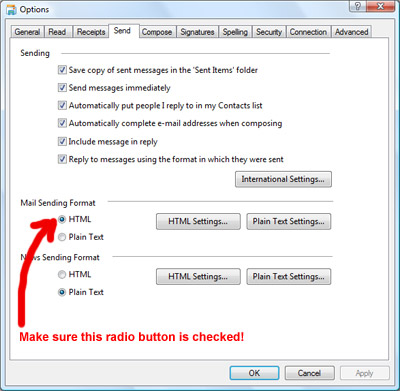 how to send mail format