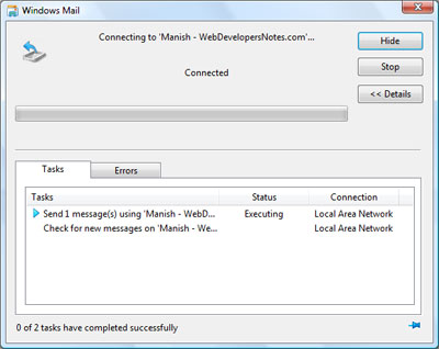 Sending emails in Windows Mail