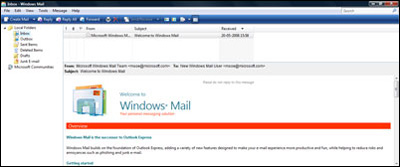 Windows Mail first look