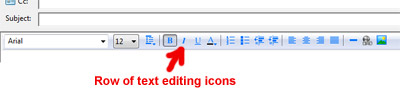 Windows Mail WYSIWYG editor icons