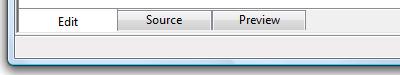 Windows Mail WYSIWYG editor tabs