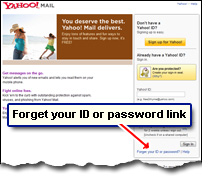 yahoo mail password recover