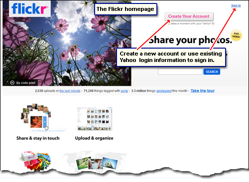 Yahoo photo albums with the photo sharing and management service - Flickr