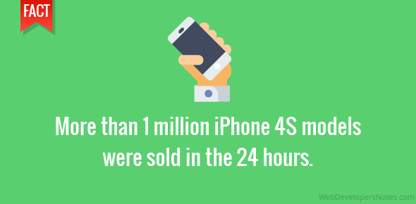 More than 1 million iPhone 4S models were sold in the 24 hours.