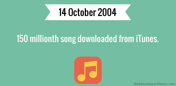 150 millionth song downloaded from iTunes