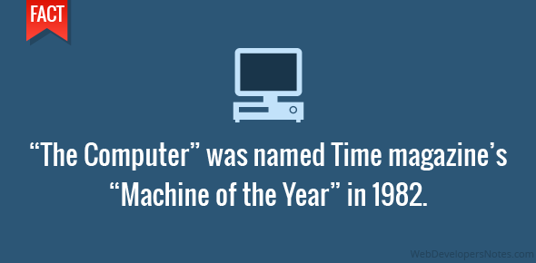 """The Computer"" was named Time magazine's ""Machine of the Year"" in 1982."