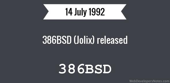 386BSD (Jolix) released