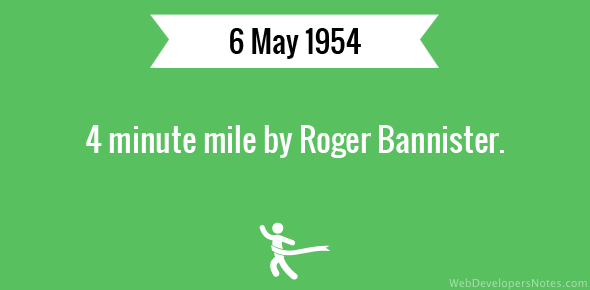 4 minute mile by Roger Bannister
