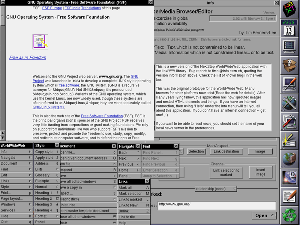 The WorldWideWeb (Nexus) web browser