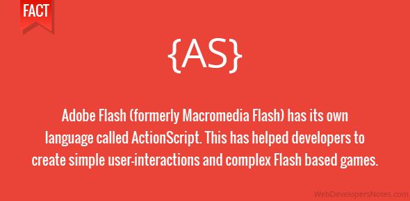 ActionScript – Flash's own language