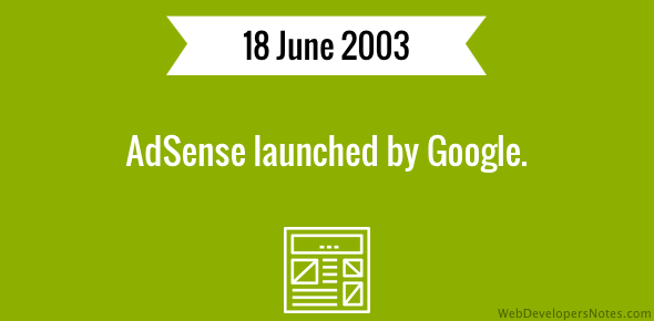 AdSense launched by Google.