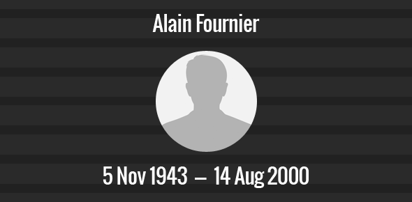 Alain Fournier Death Anniversary - 14 August 2000