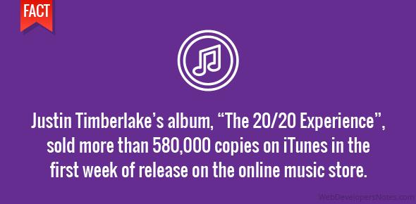 Album sells 580K copies in first week on iTunes