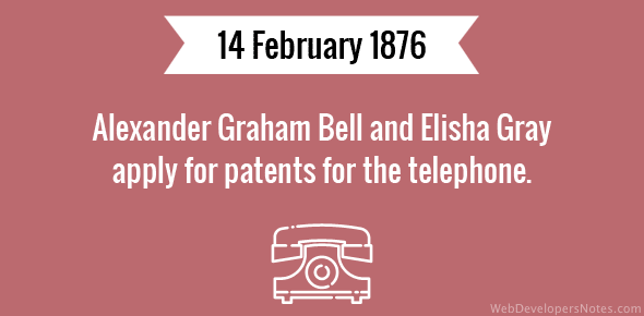 Alexander Graham Bell and Elisha Gray apply for patents for the telephone.
