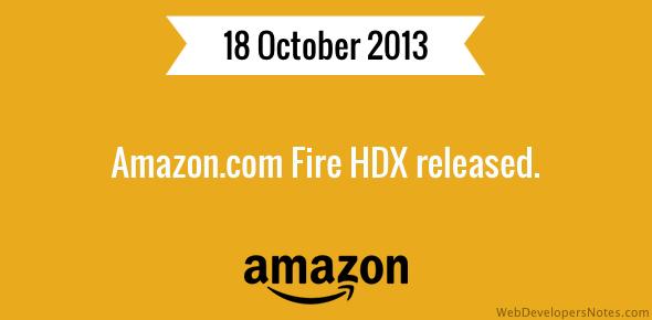 Amazon.com Fire HDX released