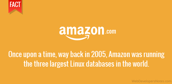 Once upon a time, way back in 2005, Amazon was running the three largest Linux databases in the world.