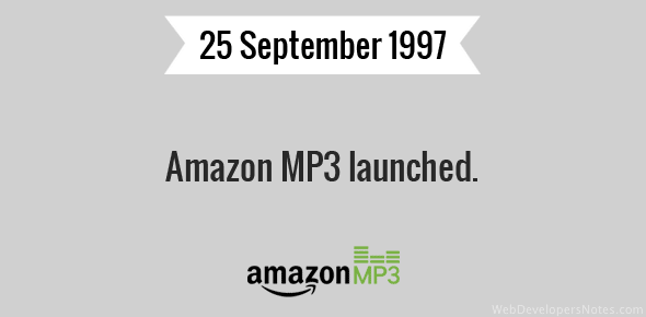 Amazon MP3 launched.