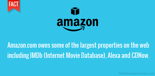 Amazon.com owns some of the largest properties on the web including IMDb (Internet Movie Database), Alexa and CDNow.