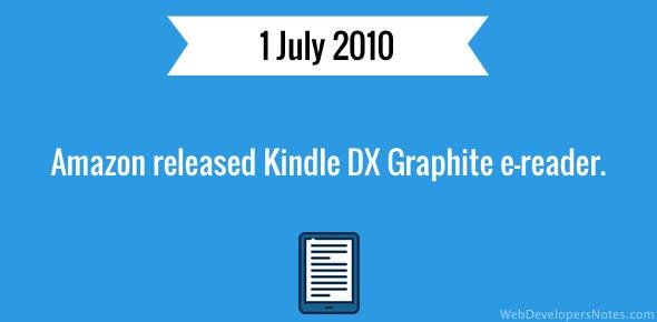 Amazon release Kindle DX Graphite e-reader