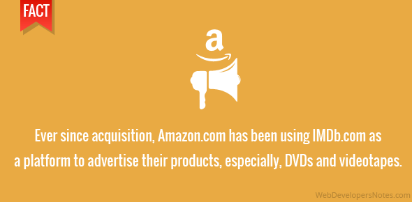 Ever since acquisition, Amazon.com has been using IMDb.com as a platform to advertise their products, especially, DVDs and videotapes.