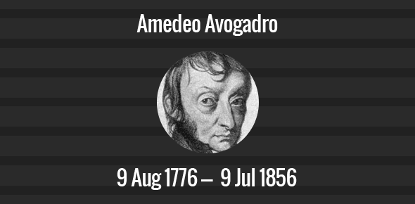 Amedeo Avogadro Death Anniversary - 9 July 1856