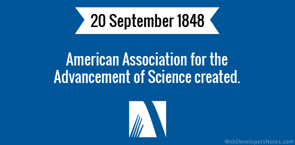 American Association for the Advancement of Science created.