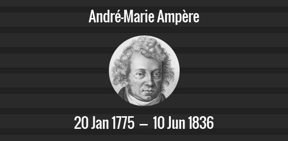 André-Marie Ampère Death Anniversary - 10 June 1836