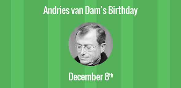 Andries van Dam Birthday - 8 December 1938