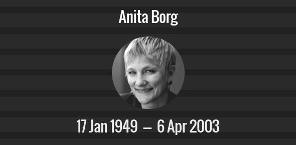 Anita Borg Death Anniversary - 6 April 2003