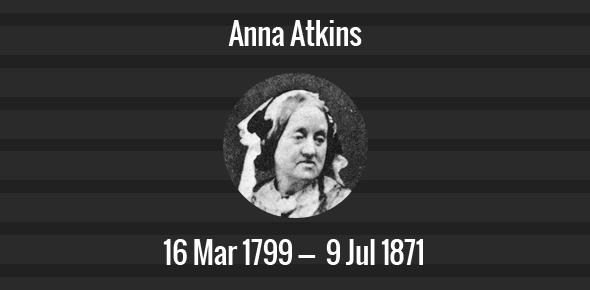 Anna Atkins Death Anniversary - 9 July 1871
