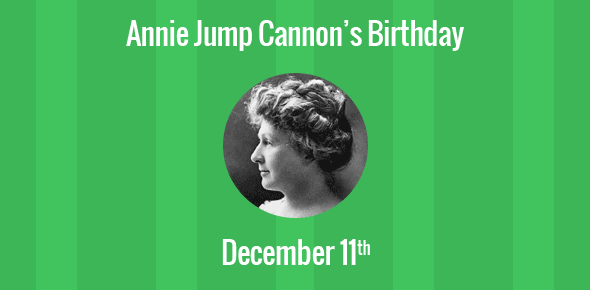 Annie Jump Cannon Birthday - 11 December 1863