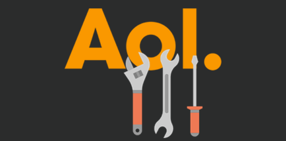 AOL email account toolbar