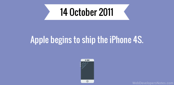 Apple begins to ship iPhone 4S