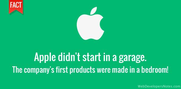 Apple didn't start in a garage