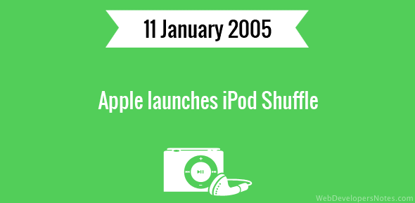 Apple launches iPod Shuffle
