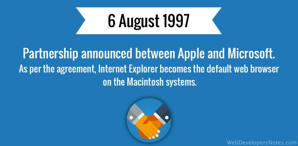 Apple Microsoft partnership announced