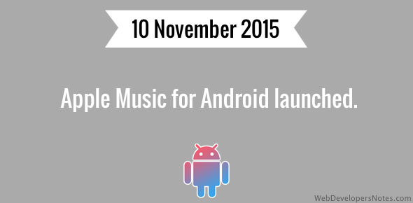 Apple Music for Android launched