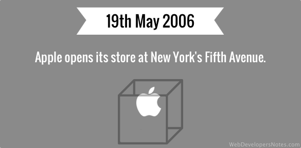 Apple opens its store at New York's Fifth Avenue