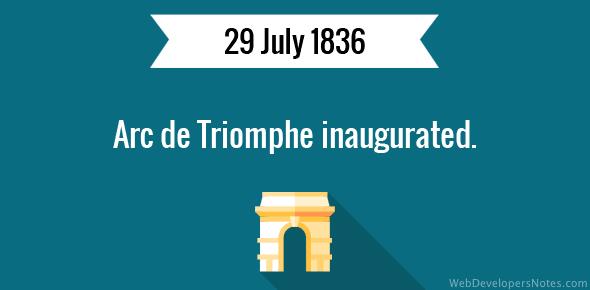 Arc de Triomphe inaugurated