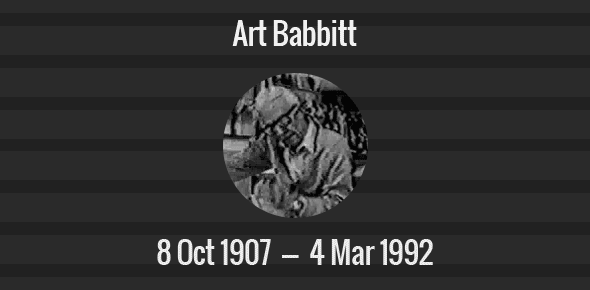 Art Babbitt Death Anniversary - 4 March 1992