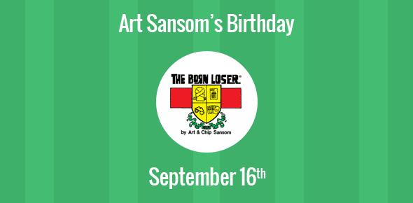 Art Sansom Birthday - 16 September 1920