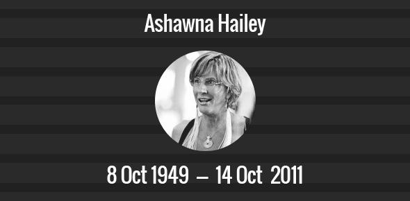 Ashawna Hailey Death Anniversary - 14 October 2011